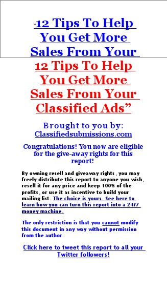 12 Tips To Get More Traffic And Sales Using Classified Ads feb