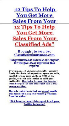 12 Tips To Get More Traffic And Sales Using Classified Ads
