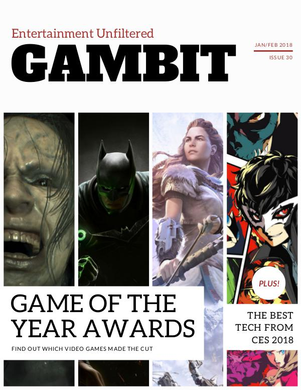 GAMbIT Magazine #30 Jan/Feb 2018