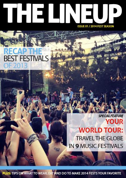 The Lineup 2014 Festival Season