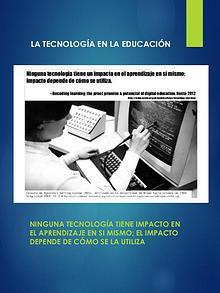 La Tecnología y el aprendizaje