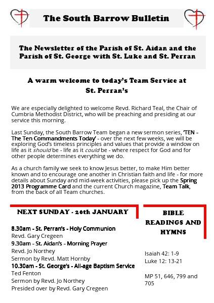 The South Barrow Bulletin 2014 19/01/2014