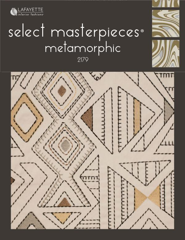 Select Masterpieces Fabric Collections by Lafayette Interior Fashions Book 2179, Metamorphic
