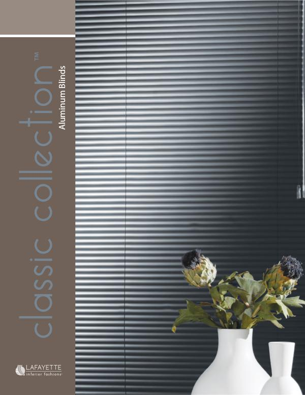 Lafayette Interior Fashions Classic Collection Aluminum Blinds