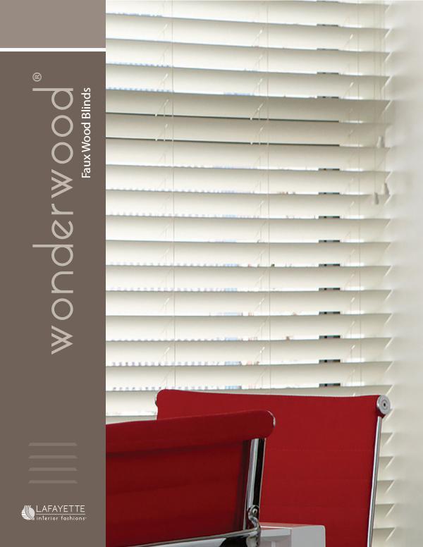 Lafayette Interior Fashions Wonderwood Faux Wood Blinds