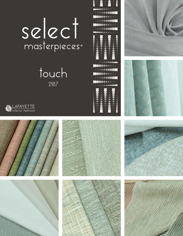 Select Masterpieces Fabric Collections by Lafayette Interior Fashions Book 2187, Touch