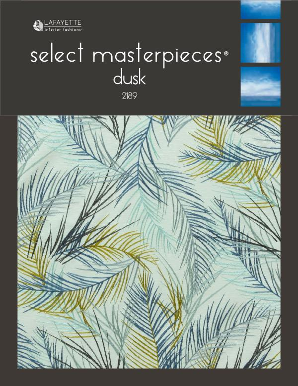 Select Masterpieces Fabric Collections by Lafayette Interior Fashions Book 2189, Dusk