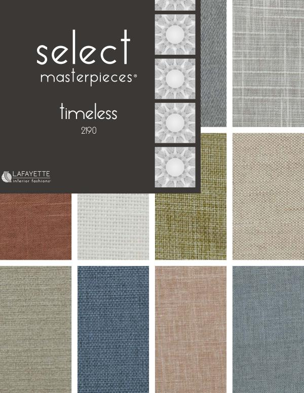 Select Masterpieces Fabric Collections by Lafayette Interior Fashions Book 2190, Timeless