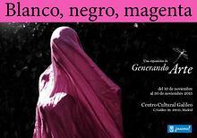 Blanco, Negro y Magenta. Exposición Generando Arte. Madrid