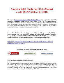 America Solid Oxide Fuel Cells Market worth $667.7 Million By 2018.
