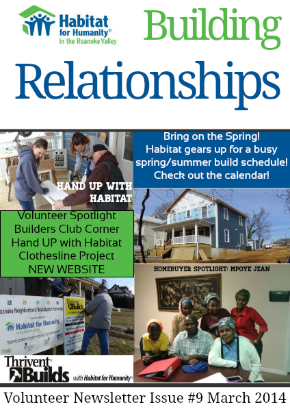 Building Relationships Issue #9 March 2014