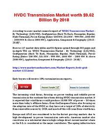 HVDC Transmission Market forecast From 2012 to 2018