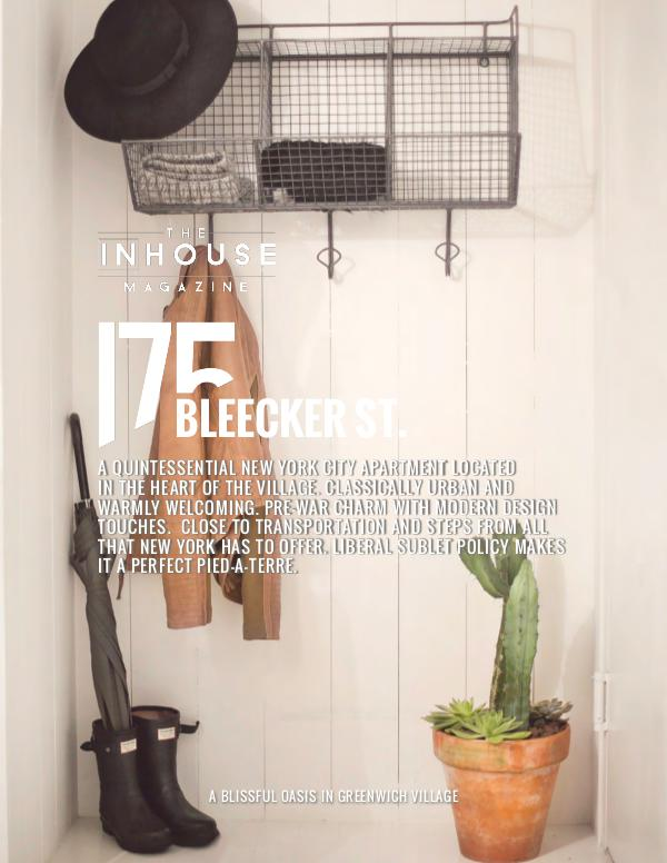 The InHouse Magazine 175 Bleecker Street, NYC.