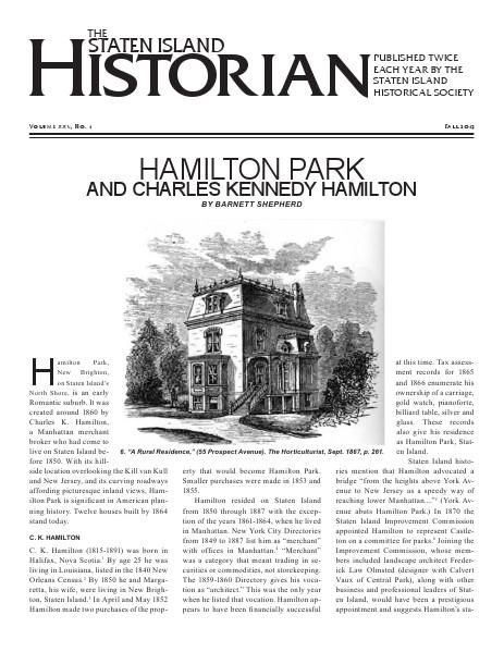 Staten Island Historian Fall 2013