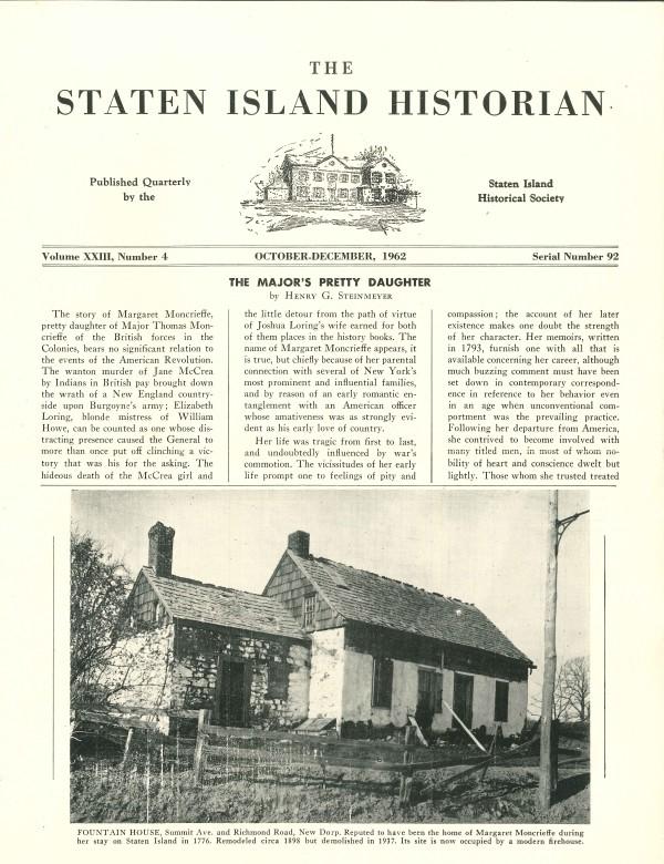 Staten Island Historian Dec 1962