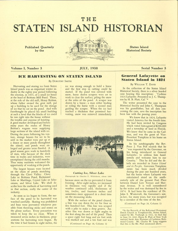 Staten Island Historian July 1938