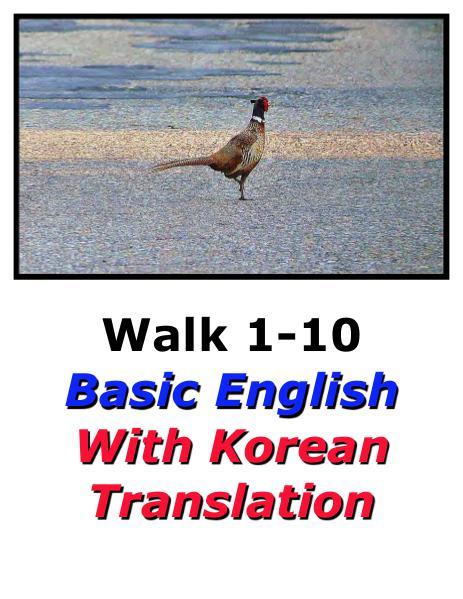 Learn English Here with Korean Translation-Walk 1 #1-10