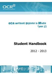 OCR National Diploma in Media (year 2) Sep. 2012