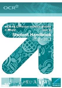 OCR Cambridge Technical in Media course handbook Sep. 2012