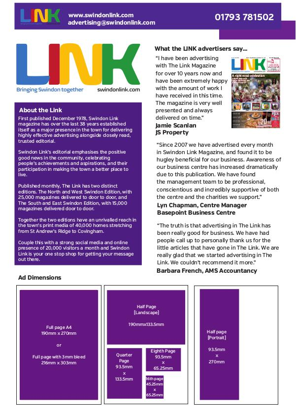 Link Magazine Rate card