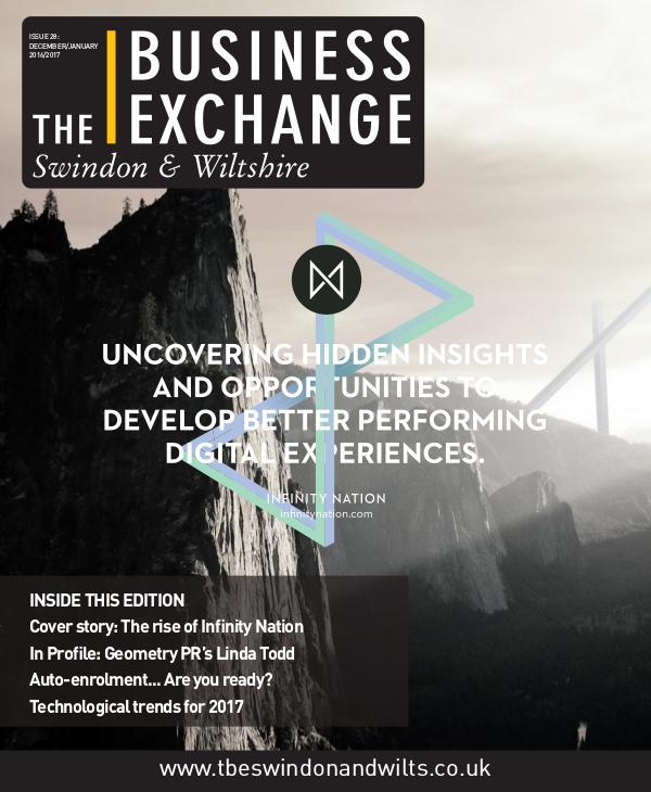 The Business Exchange Swindon & Wiltshire Edition 28: Dec/Jan 2016/17