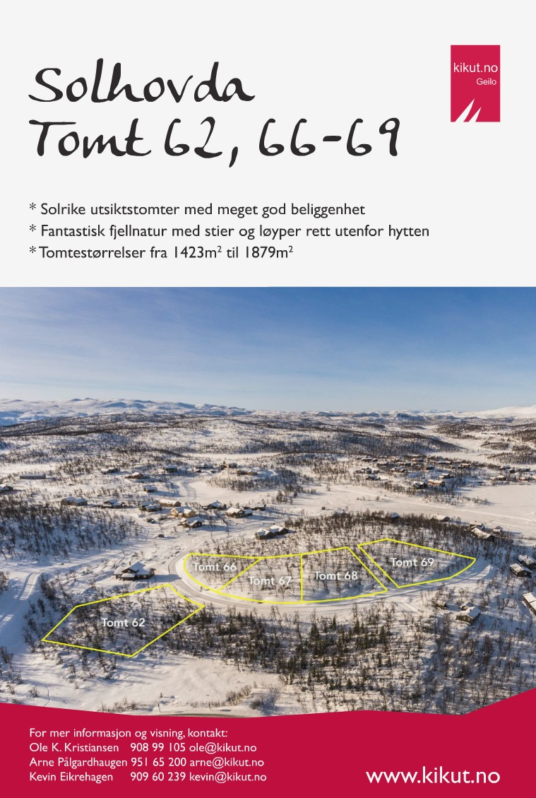 Solhovda - Tomt 62, 66-69 Prospekt