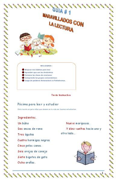 Guia de Enseñanza grado 5 marzo 2014