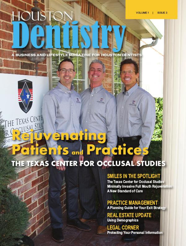 Houston Dentistry Volume 1 Issue 3 The Texas Center for Occlusal Studies