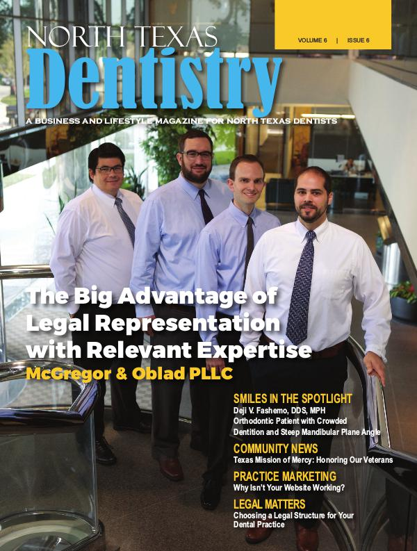 North Texas Dentistry Volume 6 Issue 6 North Texas Dentistry Volume 6 Issue 6