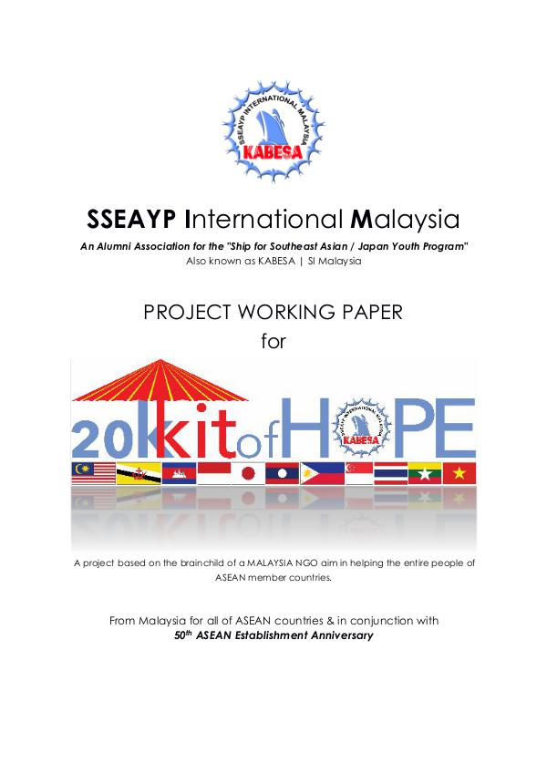 20K Kit of Hope -  ASEAN and Japan Social Contribution Activity (SCA) 20K KIT OF HOPE (ENG)