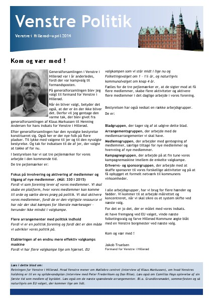 Venstre Politik April 2014