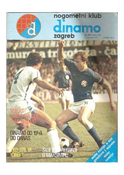 Dinamova revija, 11. listopada 1981 268, October 1981