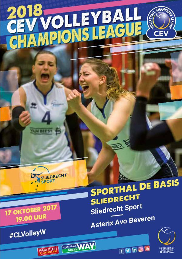 Programmaboekjes Sliedrecht Sport 17 oktober 2017: Champions League