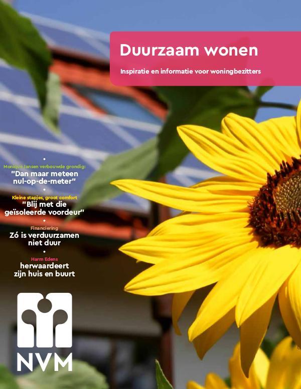 NVM Magazine Duurzaam wonen/E. Janson