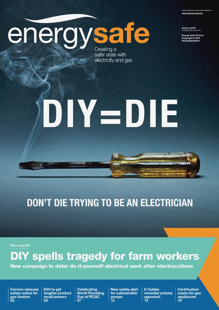 EnergySafe Magazine Autumn 2016, issue 43