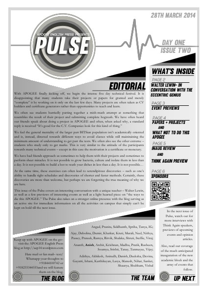 Pulse Day 1 Issue 2