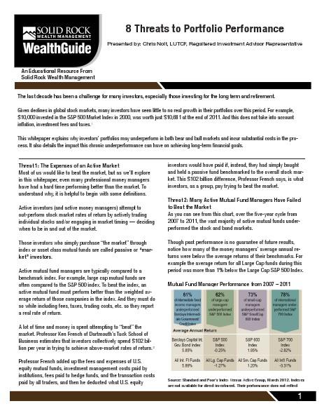Free Wealth Management Guide 8 Threats To Portfolio Performance