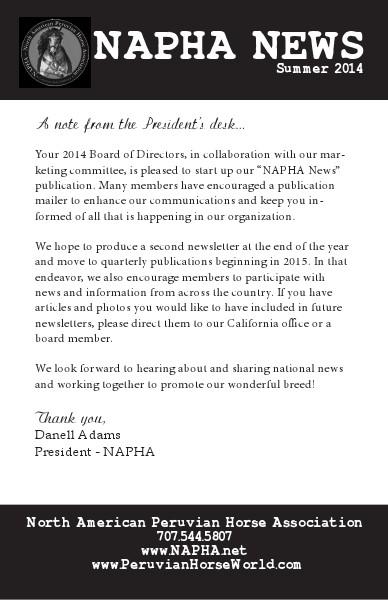 NAPHA News Summer 2014 NAPHA News, Summer 2014