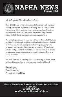 NAPHA News Summer 2014