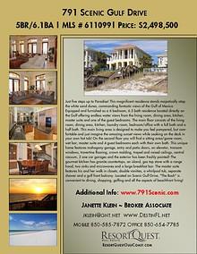 791 Scenic Gulf Drive Brochure
