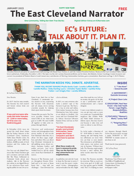 The East Cleveland Narrator 2015 Issue 1, January