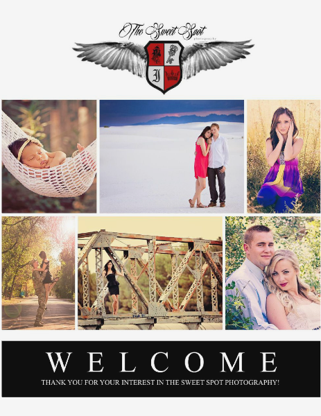 The Sweet Spot Photography Welcome Packet 2014