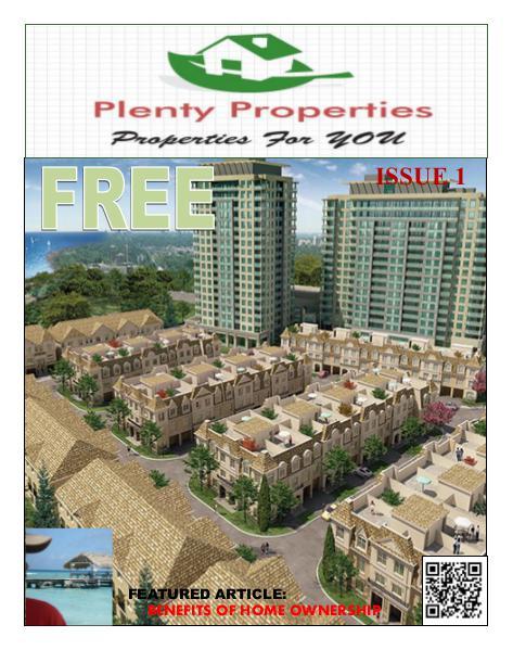 Plenty Properties Issue #1