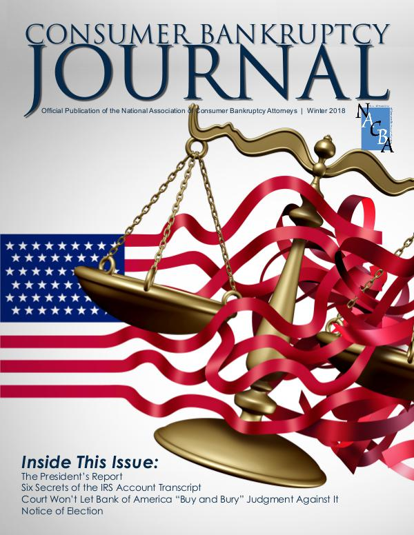 Consumer Bankruptcy Journal Winter 2018