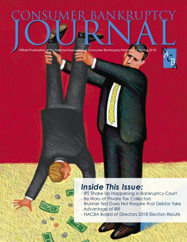 Consumer Bankruptcy Journal Spring 2018