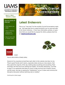 Monthly Crucial Conversations April 2014