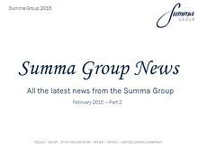 Summa Group News 2015 - Feb PT2