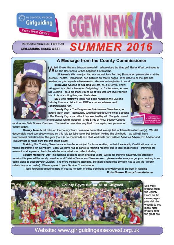 GGEW Summer 2016