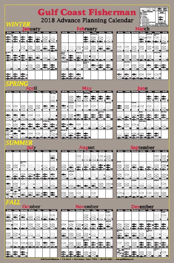 GCF 2018 Advance Planning Calendar