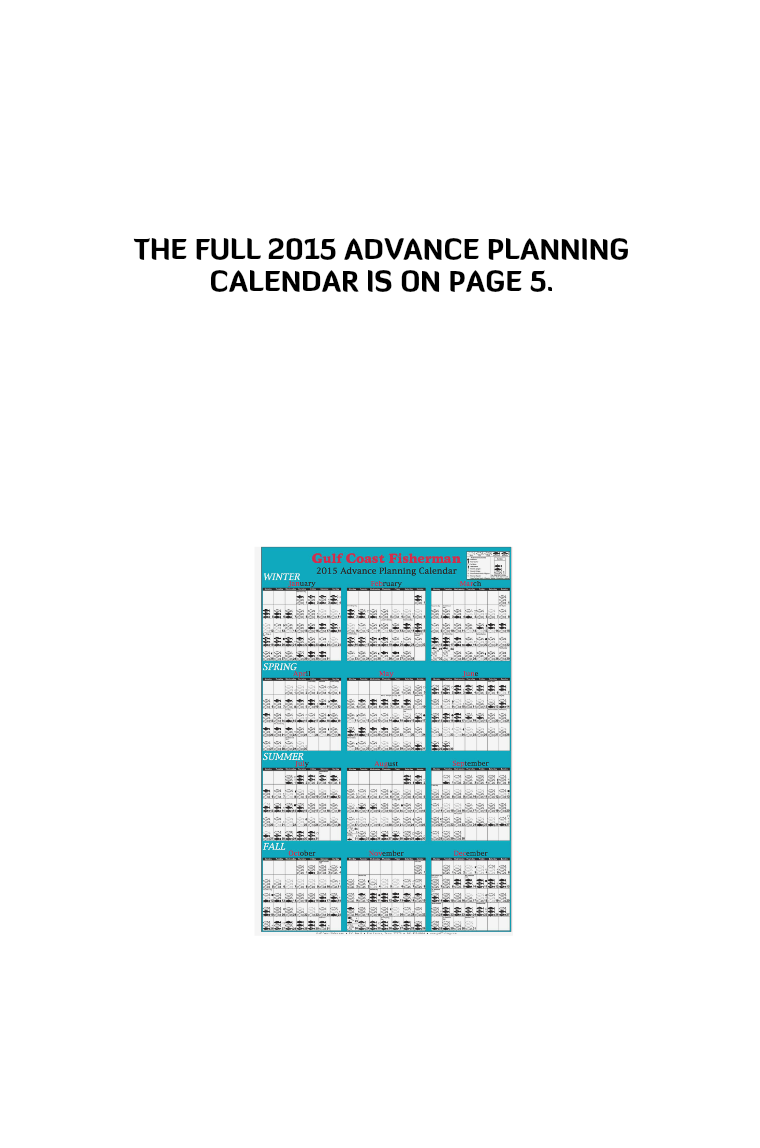 GCF 2015 Advance Planning Calendar
